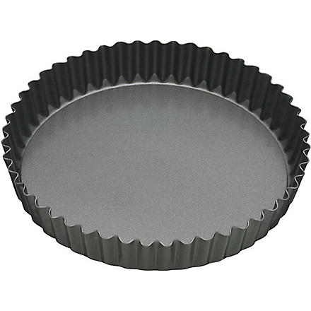 MASTER CLASS Non-stick fluted loose bottom fluted-edge pan 18cm