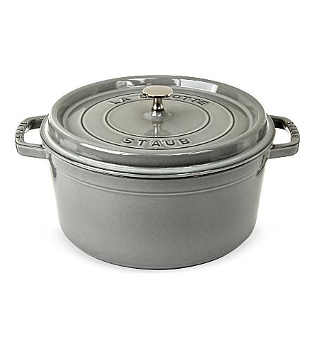 STAUB Round cocotte cast-iron dish 28 cm