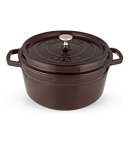 STAUB Round cocotte dish 26 cm