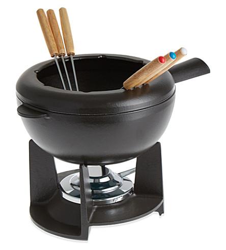 STAUB Cast iron mixed fondue set
