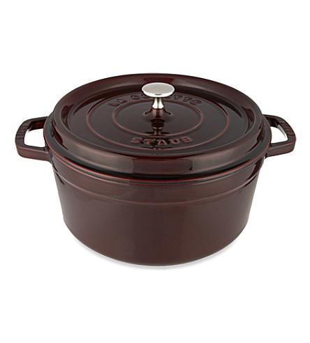 STAUB Round cocotte dish 28 cm