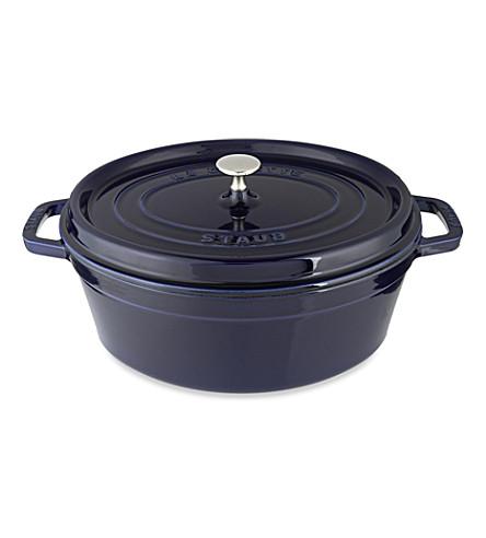 STAUB Oval cast iron cocotte dish 31cm