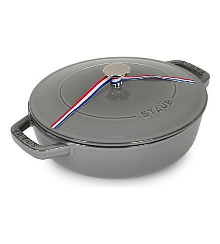 STAUB Cast iron sauté pan with lid 28cm