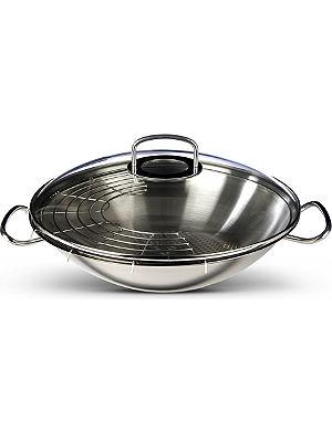 FISSLER Original pro wok with glass lid 35cm