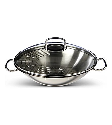 fissler original pro wok with glass lid 35cm. Black Bedroom Furniture Sets. Home Design Ideas