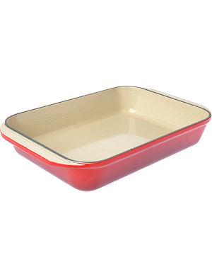 LE CREUSET Cast iron rectangular dish 30cm