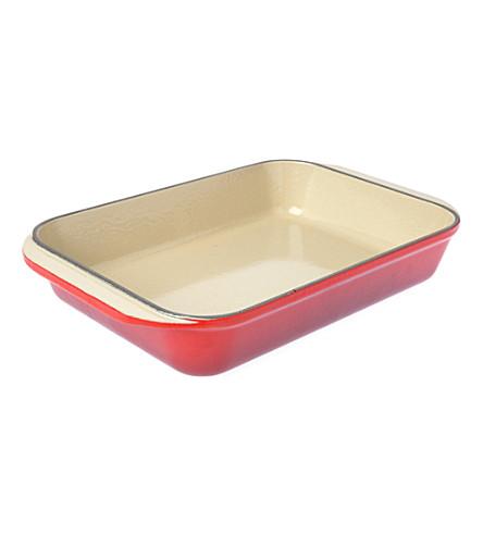 LE CREUSET Cast iron rectangular dish 30cm (Cerise