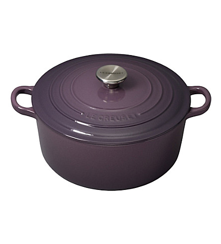 LE CREUSET Cast iron casserole dish 24cm (Cassis