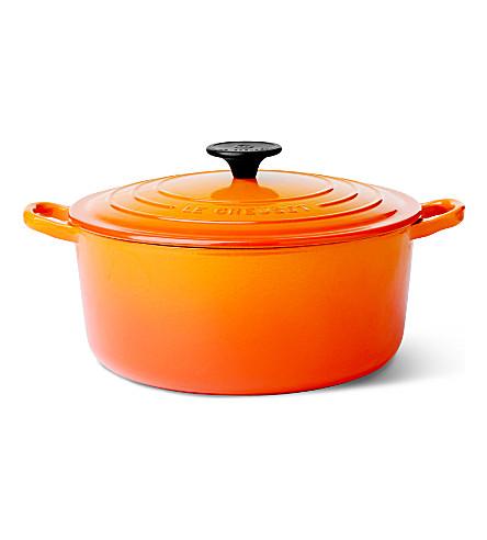 LE CREUSET Cast iron casserole dish 24cm (Volcanic