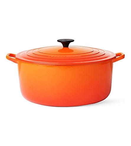 LE CREUSET Cast iron casserole dish 30cm (Volcanic