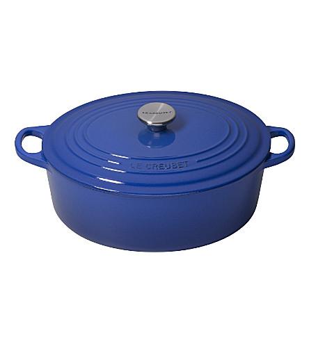 LE CREUSET Cast iron casserole dish 29cm (Marseille+blue