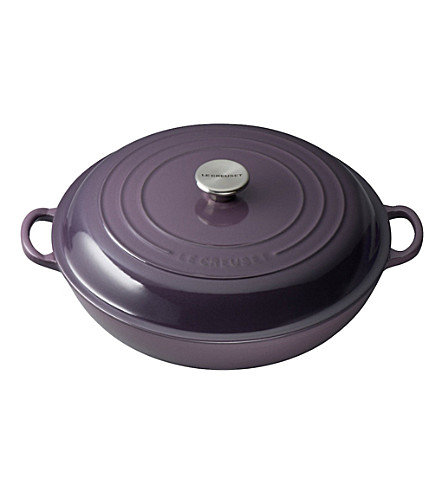 LE CREUSET Cast iron casserole dish shallow 30cm (Cassis