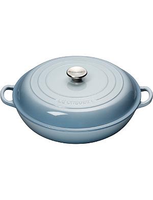LE CREUSET Cast iron casserole dish shallow 30cm