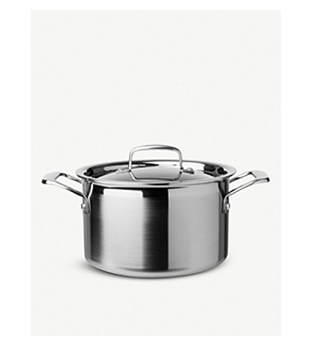 LE CREUSET 3-ply Stainless Steel deep casserole dish 20cm