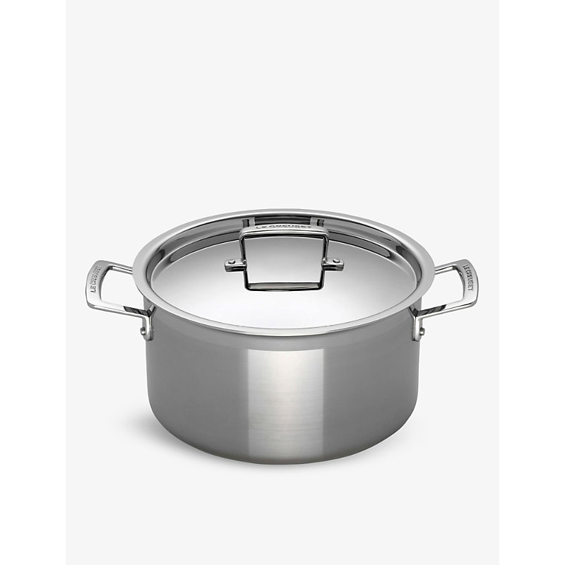 le creuset 3 ply stainless steel deep casserole dish 24cm octer. Black Bedroom Furniture Sets. Home Design Ideas