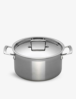 LE CREUSET 3-ply Stainless Steel deep casserole dish 24cm