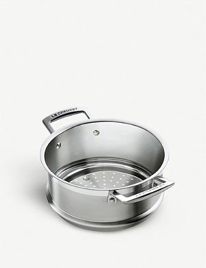LE CREUSET 3-ply stainless steel steamer 20cm