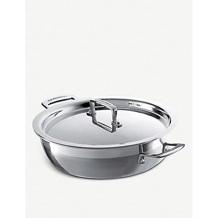 LE CREUSET 3-ply Stainless Steel shallow casserole pan 30cm