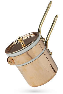 MAUVIEL M'tradition copper, porcelain and bronze bain-marie 12cm