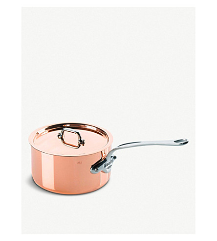 MAUVIEL M'150 copper and stainless steel saucepan with lid 16cm