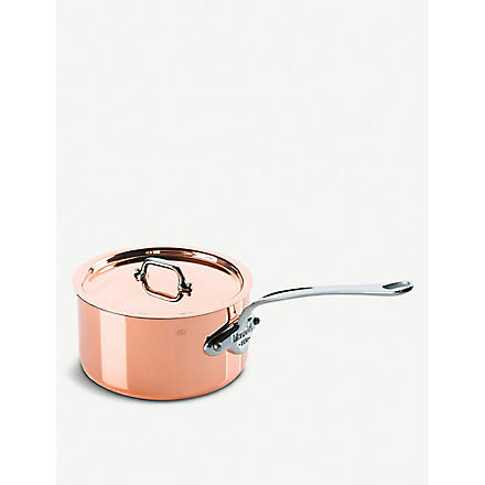 MAUVIEL M'150 copper and stainless steel saucepan with lid 18cm