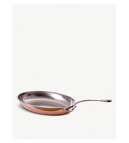 MAUVIEL héritage 铜和不锈钢圆煎锅26厘米
