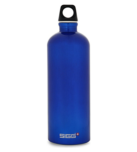 SIGG Aluminium water bottle 1L (Dark+blue