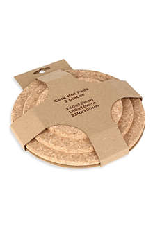 ICTC Set of three round cork pads