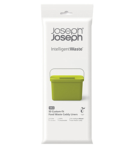 JOSEPH JOSEPH Totem compostable pack of 50 food waste caddy liners