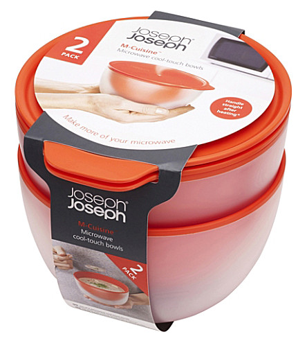 JOSEPH JOSEPH Set of two M-cuisine cool-touch microwave bowls
