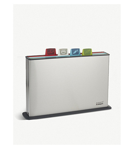 JOSEPH JOSEPH Index Steel colour-coded chopping boards