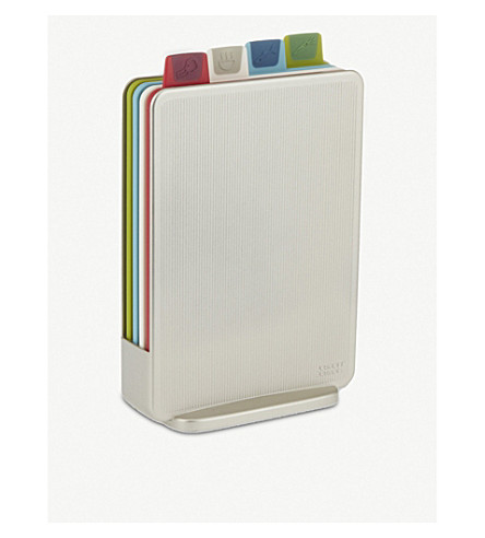 JOSEPH JOSEPH Index Mini colour-coded chopping boards - silver
