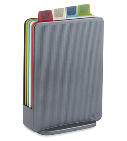 JOSEPH JOSEPH Index Mini colour-coded chopping boards - graphite