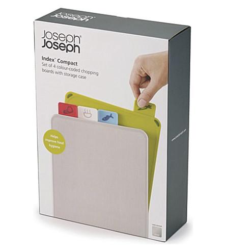 JOSEPH JOSEPH Index compact colour-coded chopping board set