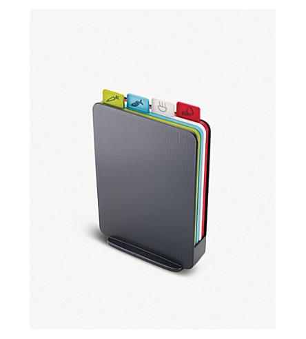 JOSEPH JOSEPH Index Compact colour-coded chopping boards - graphite