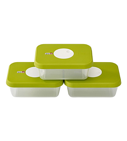 JOSEPH JOSEPH Set of three dial datable storage containers 1l