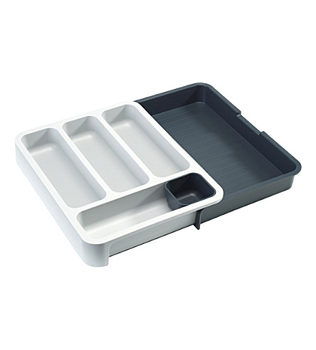 JOSEPH JOSEPH DrawerStore cutlery tray (Grey/grey