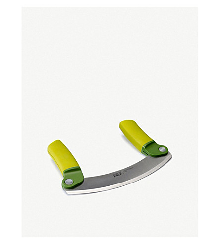 JOSEPH JOSEPH Mezzaluna folding herb chopper (Dark+green