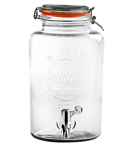 KILNER Clip-top drinks dispenser 5l