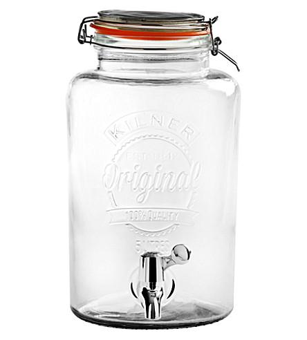 KILNER Clip-top drinks dispenser 5l