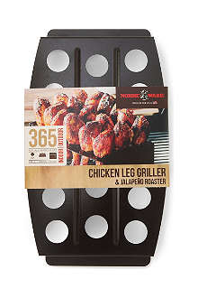 NORDICWARE Chicken leg griller and jalapeno roaster