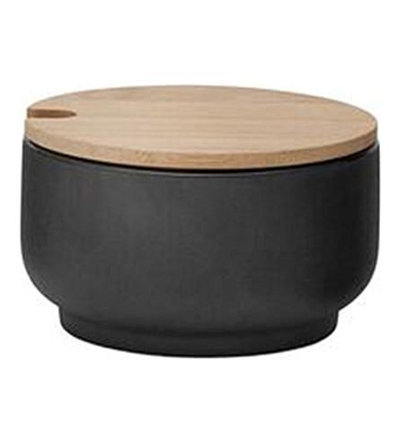 STELTON Theo stoneware and bamboo sugar bowl