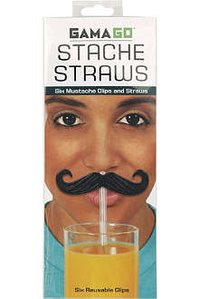 CUBIC Novelty Stache straws