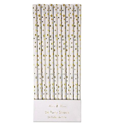MERI MERI Star paper straws pack of 24
