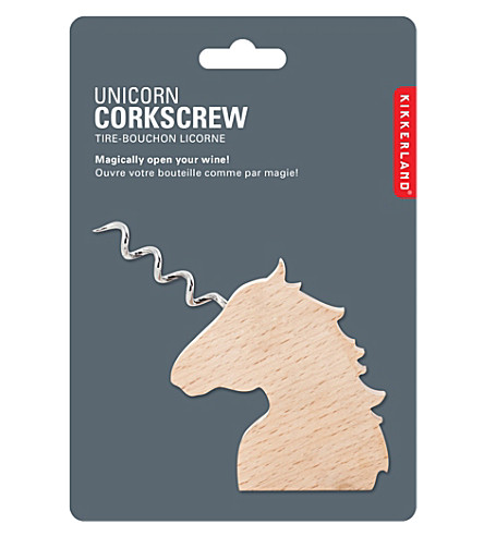 KIKKERLAND Unicorn wooden corkscrew