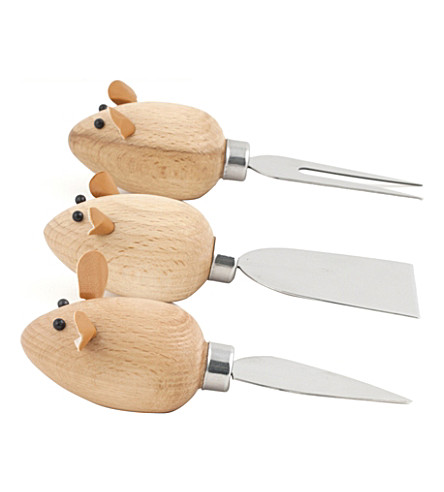 KIKKERLAND Three blind mice cheese knives