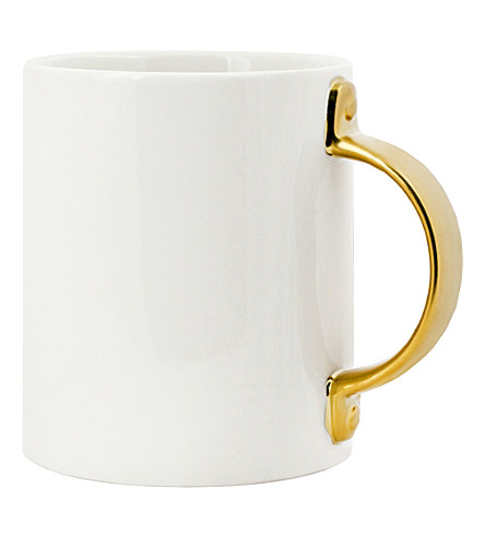 KIKKERLAND Gold handle coffee mug 500ml