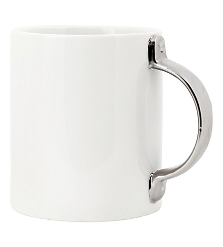 KIKKERLAND Silver handle coffee mug