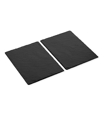 JUST SLATE Rectangular slate place mats set of 2