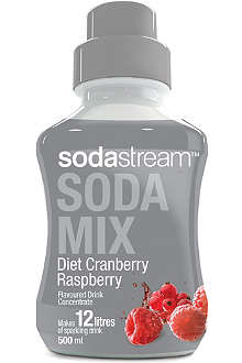 SODASTREAM Diet cranberry and raspberry flavoured drink mix 500ml